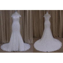 Popular Mermaid Wedding Dress China Wholesale Boat Neckline